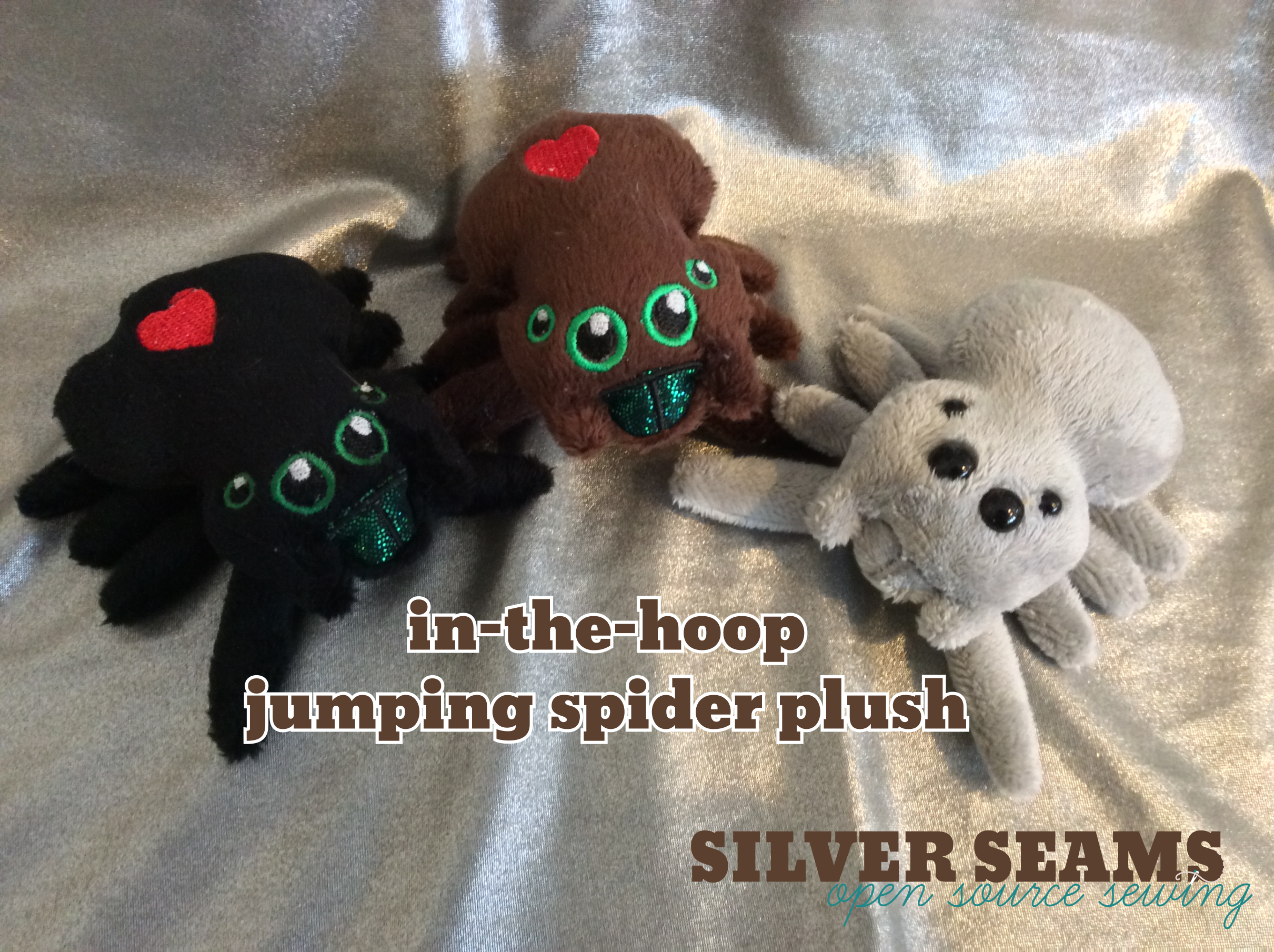 In-the-hoop jumping spider plush