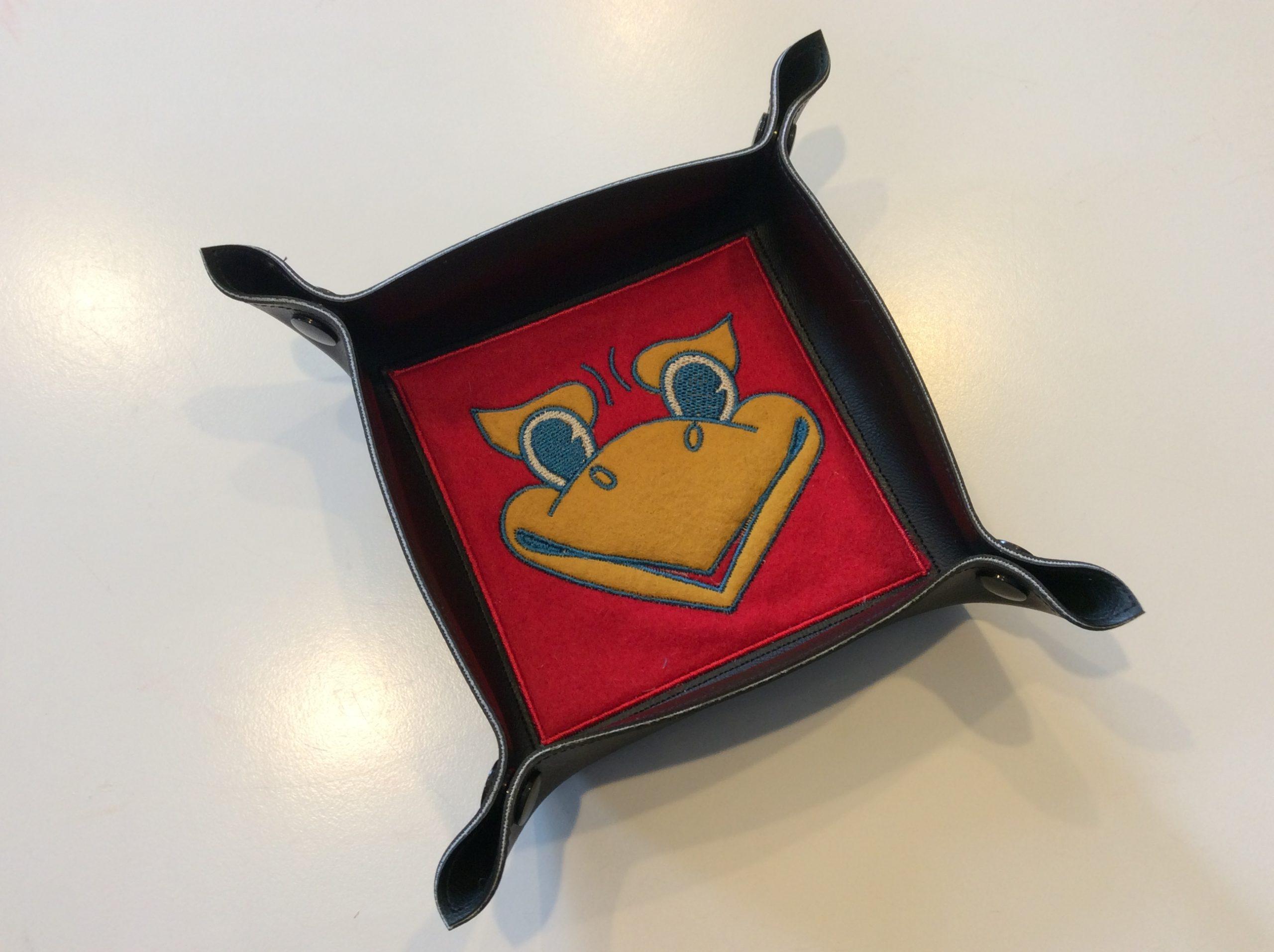 Vinyl snap tray with a Kansas Jayhawk logo