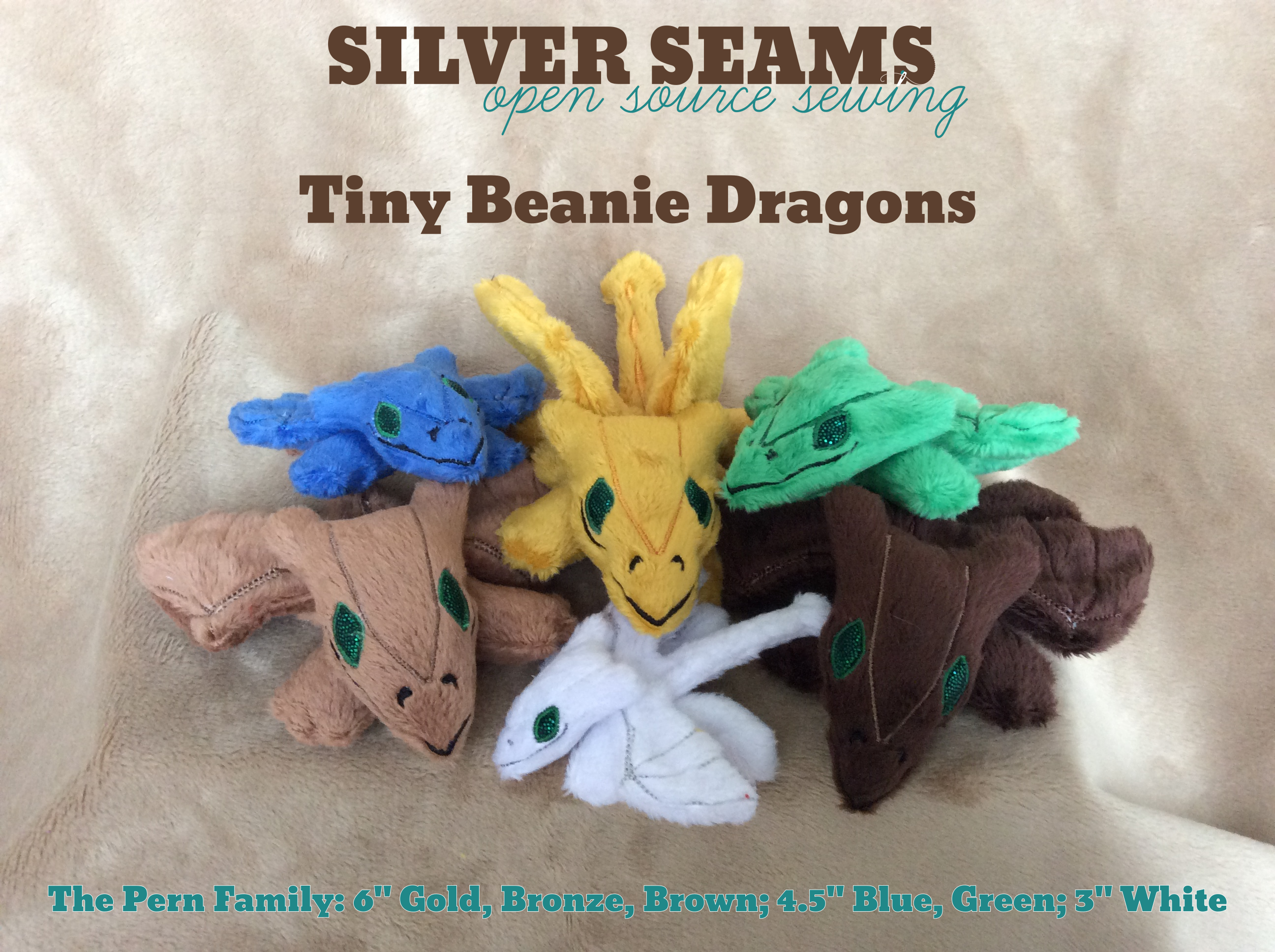 Etsy listing image for the beanie dragons